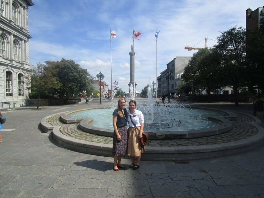 Visiting Old Montreal one last time with Sister Jeter.