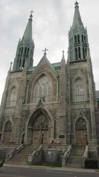 A cathedral Sister Rawlings and I saw while waiting for the bus in downtown Montreal.